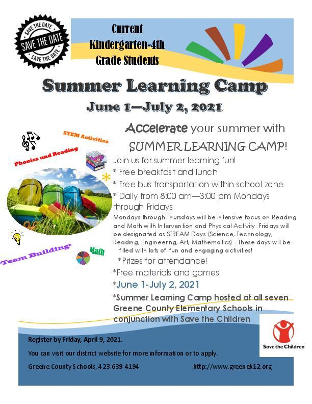 Summer Learning Camp Featured Photo