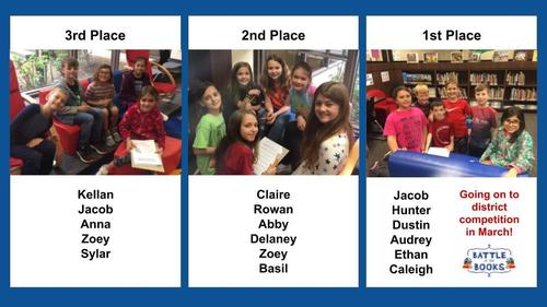 Battle of Books winners