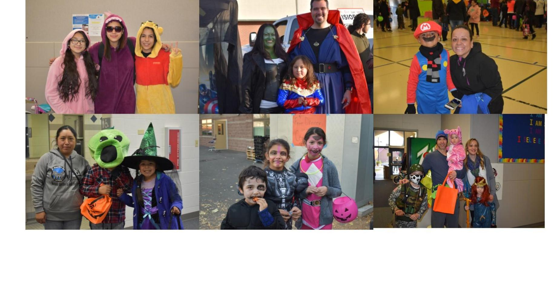 families dressed up for halloween at our halloween carnival