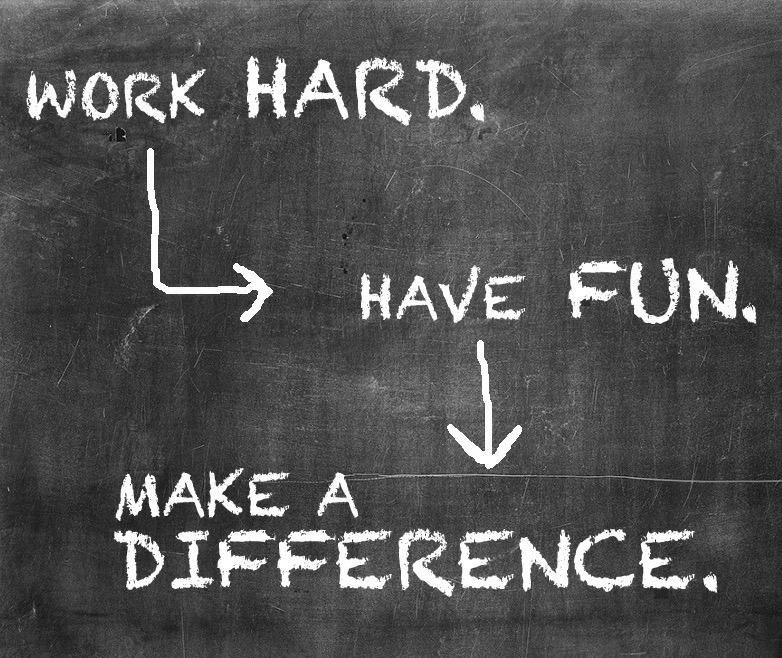Work Hard Have Fun and Make a Difference