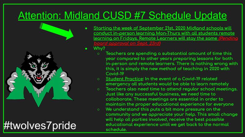 Midland Schedule Change 2020 Featured Photo