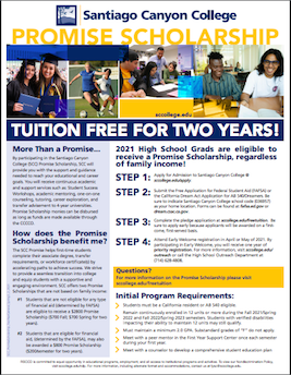 SCC tuition free for two years for incoming high school seniors