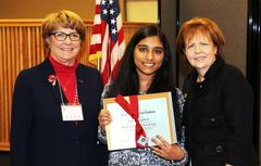Student pictured receiving DAR award