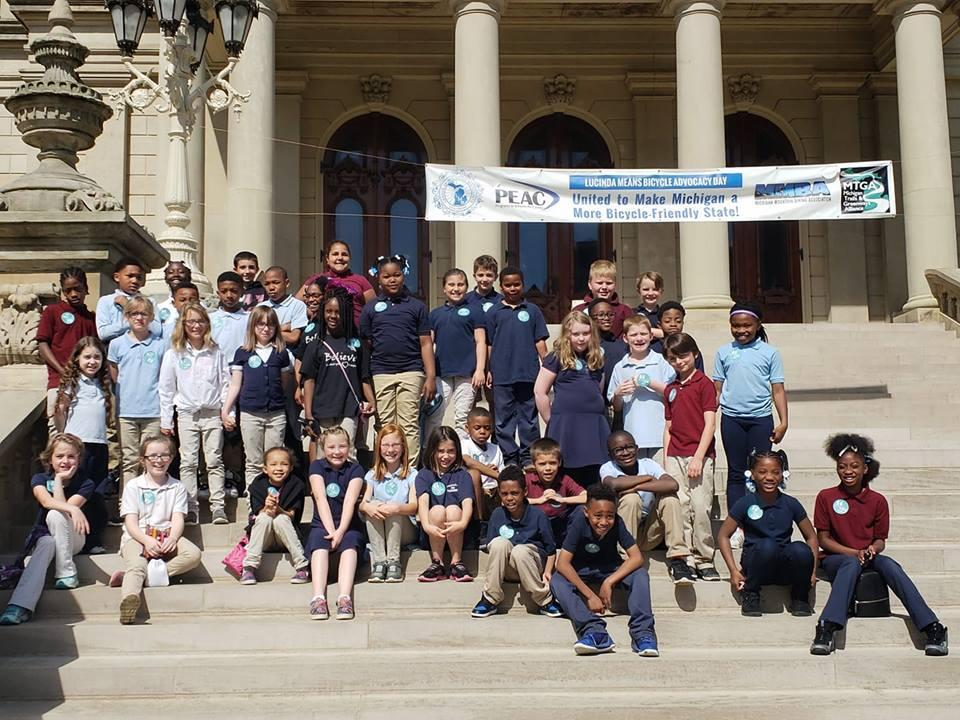 3rd Graders in Lansing, Michigan on a Field Trip.