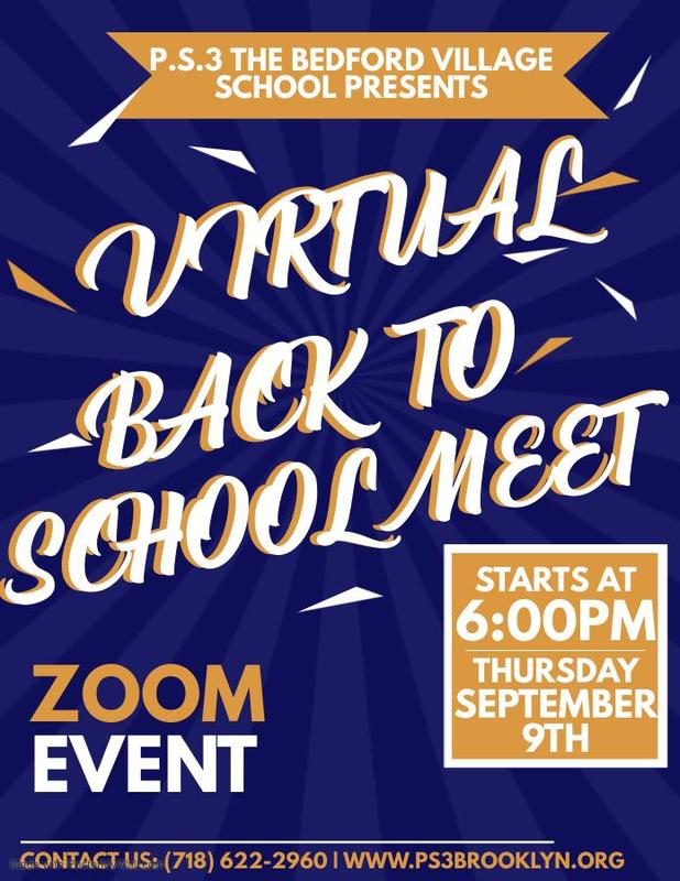Virtual Back To School Meet September 9th @ 6pm
