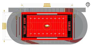 Rendering of new Valley View High School Football Field and Track