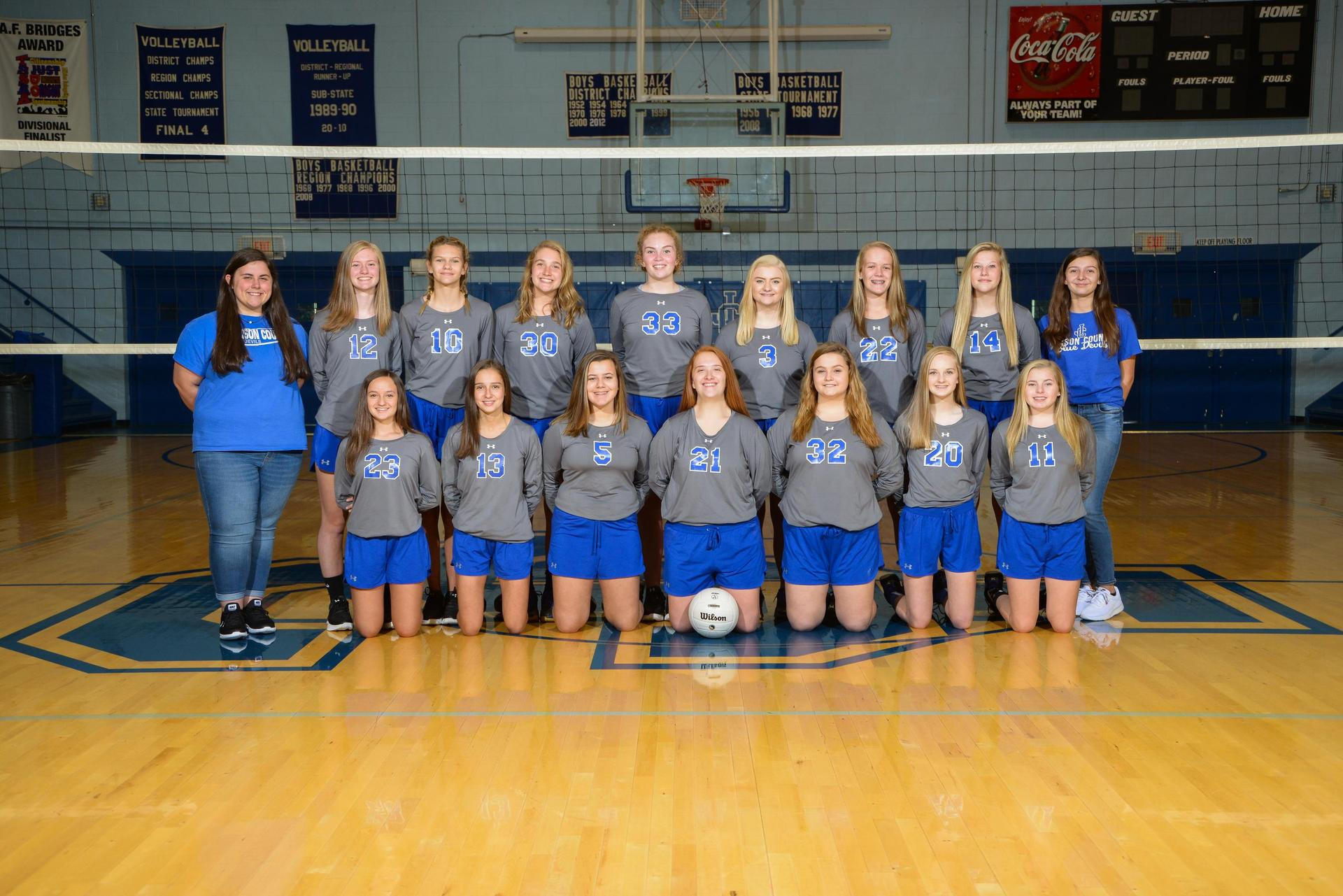 jchs volleyball tean