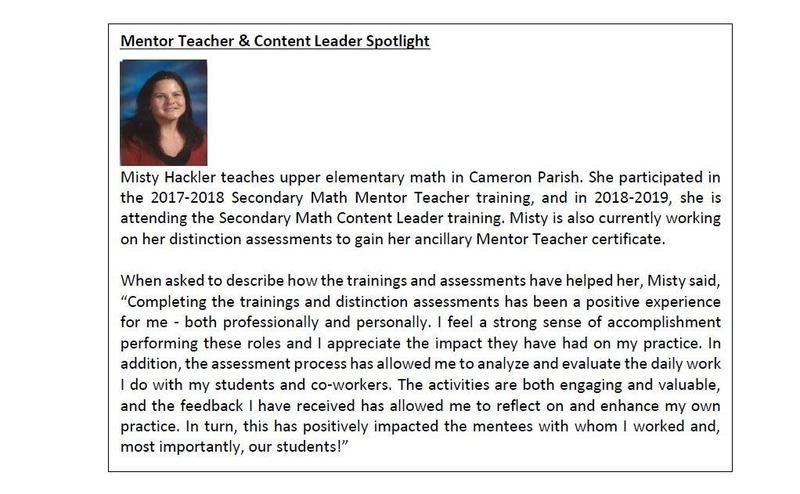 Mrs. Misty Hackler, Mentor Teacher & Content Leader Spotlight Thumbnail Image