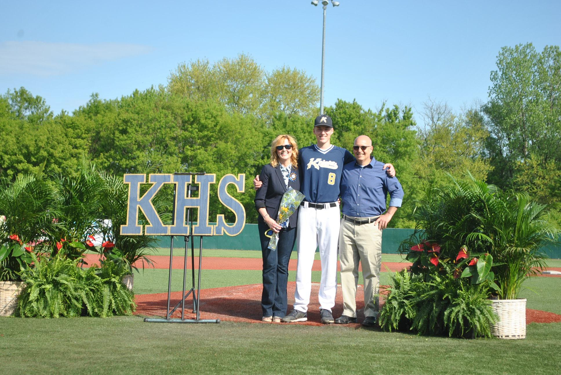 Pic of Jack Bartek and parents