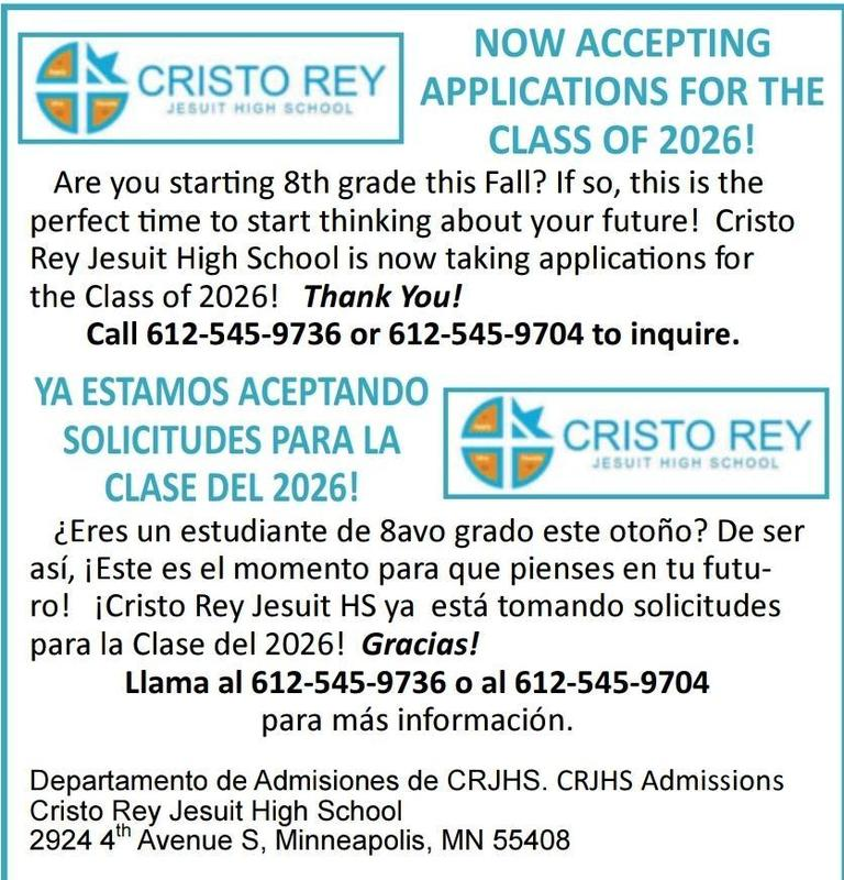 Cristo Rey is Accepting Applications Featured Photo