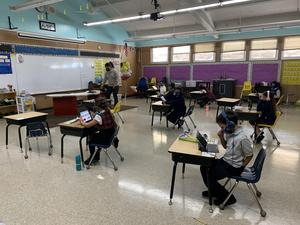 Students in session during the 2020-2021 school year.