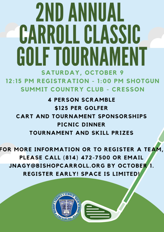 Sign up for the Carroll Classic Golf Tournament! Featured Photo