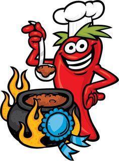 Chili pepper stirring pot of chili