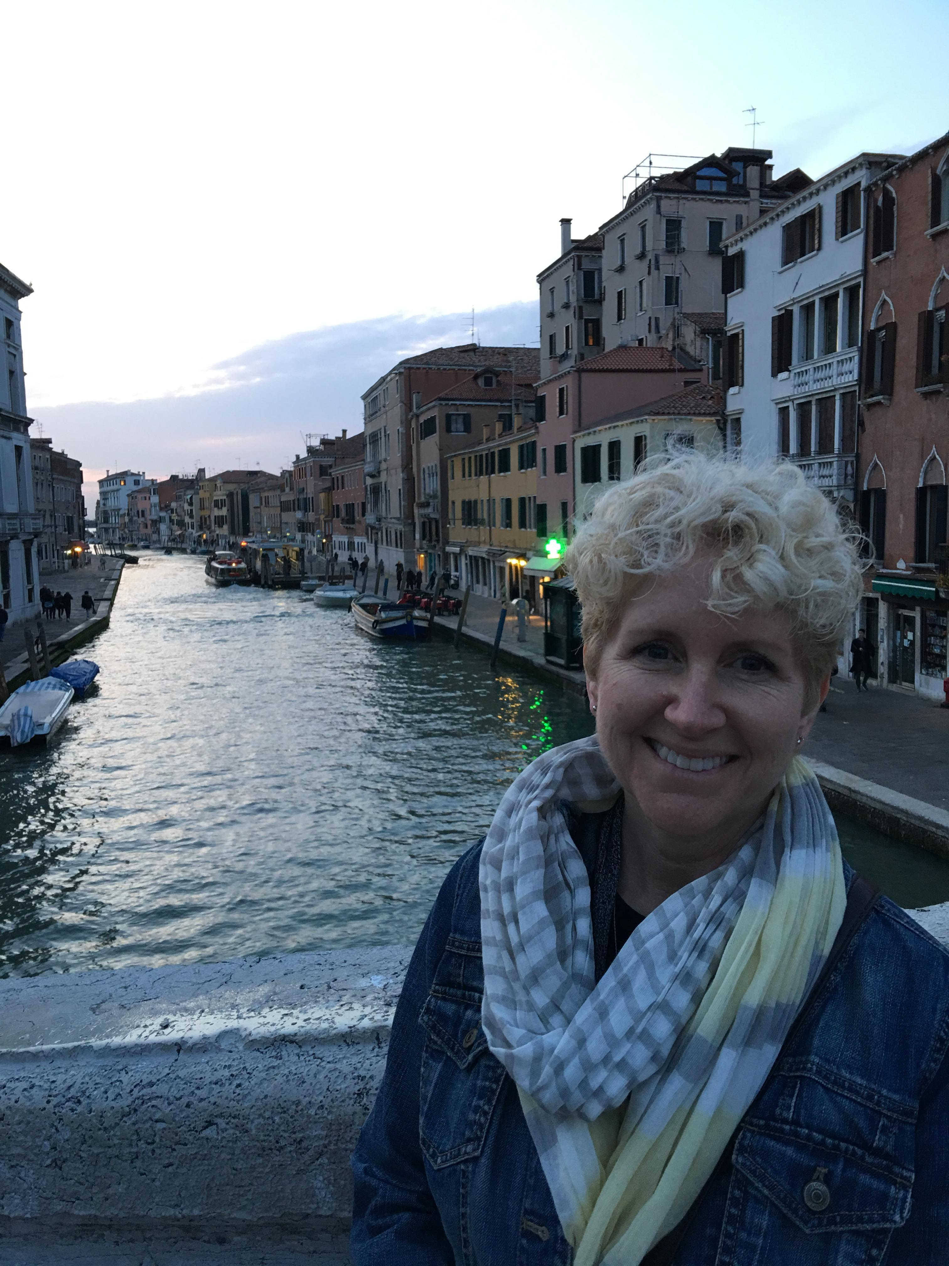 Mrs. Napier in Venice Italy