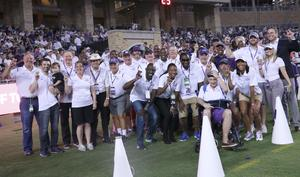 Brashant Carter and other TCU Hall of Fame Inductees at Amon G. Carter Stadium