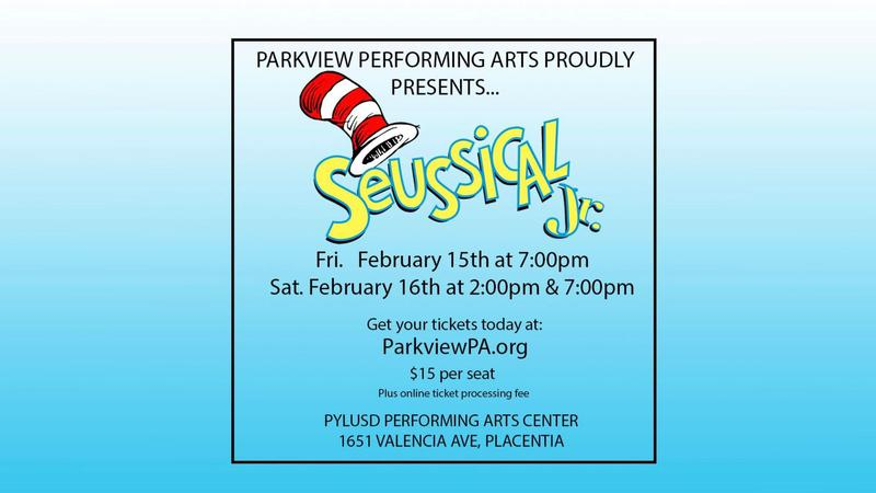 Seussical Jr. Tickets Now Available
