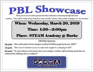 PBL Showcase 2019 Flyer