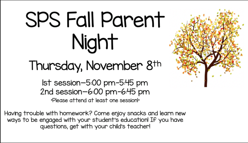 SPS Fall Parent Night Featured Photo