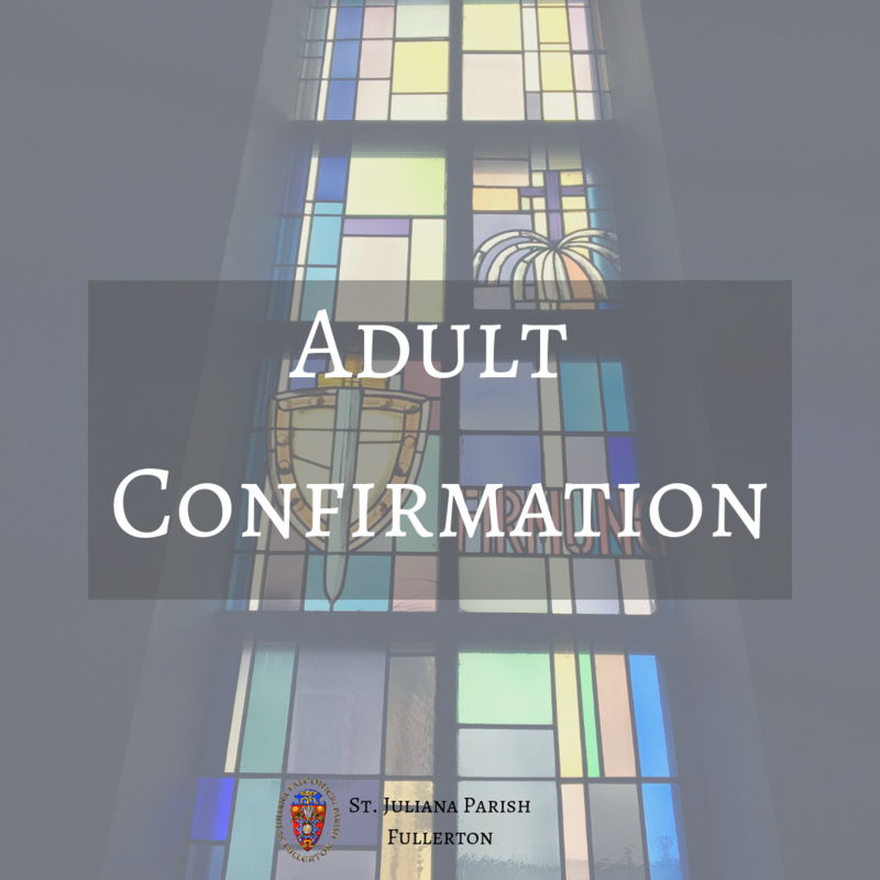 Adult Confirmation Featured Photo