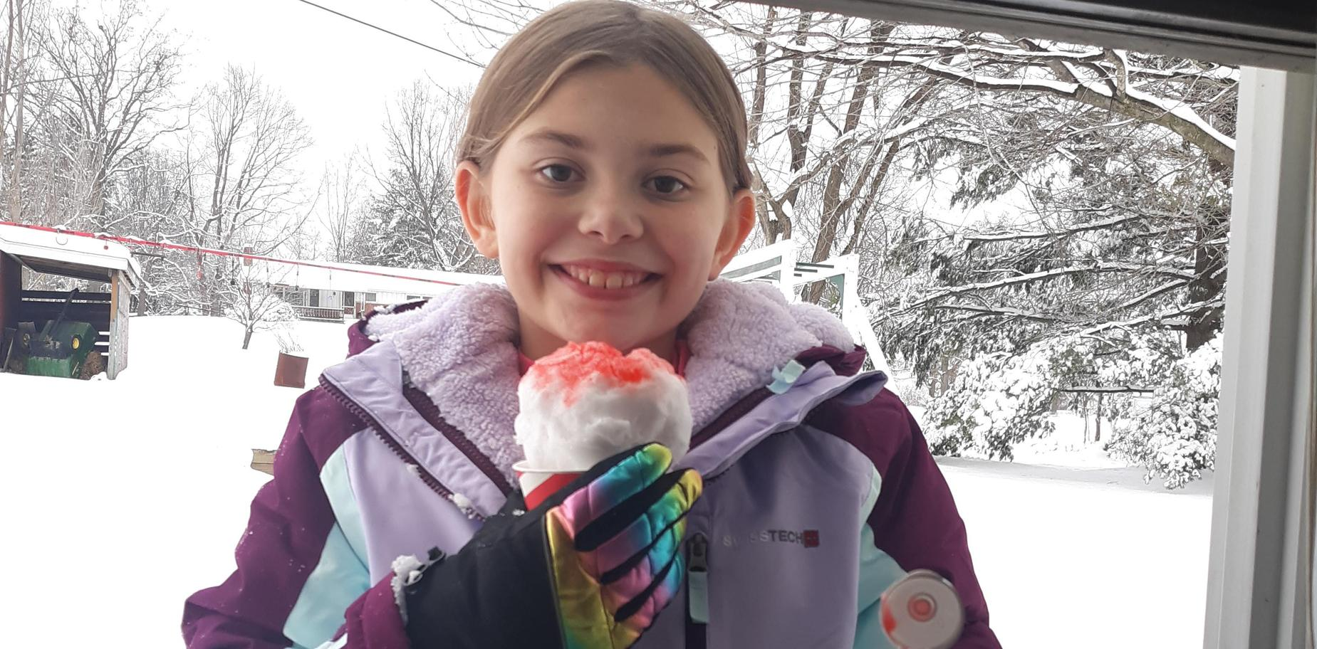 girl with snow cone