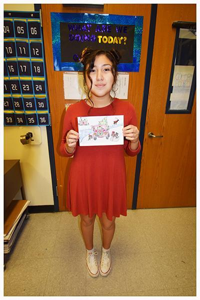 FHS Art student Valerie Claudio