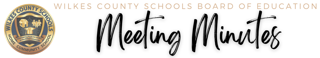 Wilkes County School Board of Education Meeting Minutes