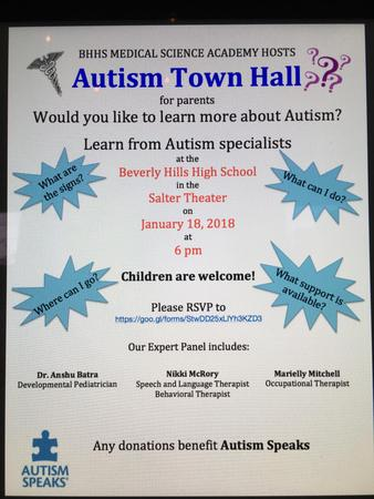 Autism Town Hall Flyer