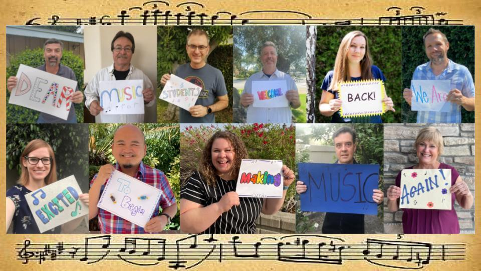 Elementary Music Staff Greeting