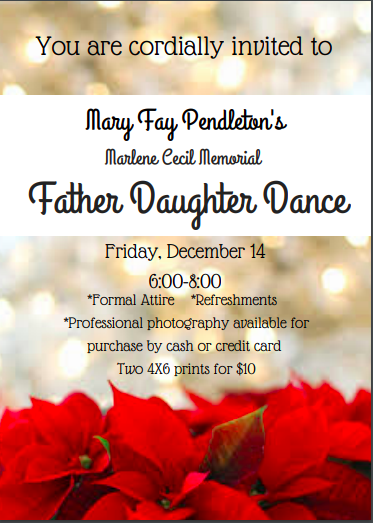 Mary Fay Pendleton's Marlene Cecil Memorial Father Daughter Dance Featured Photo