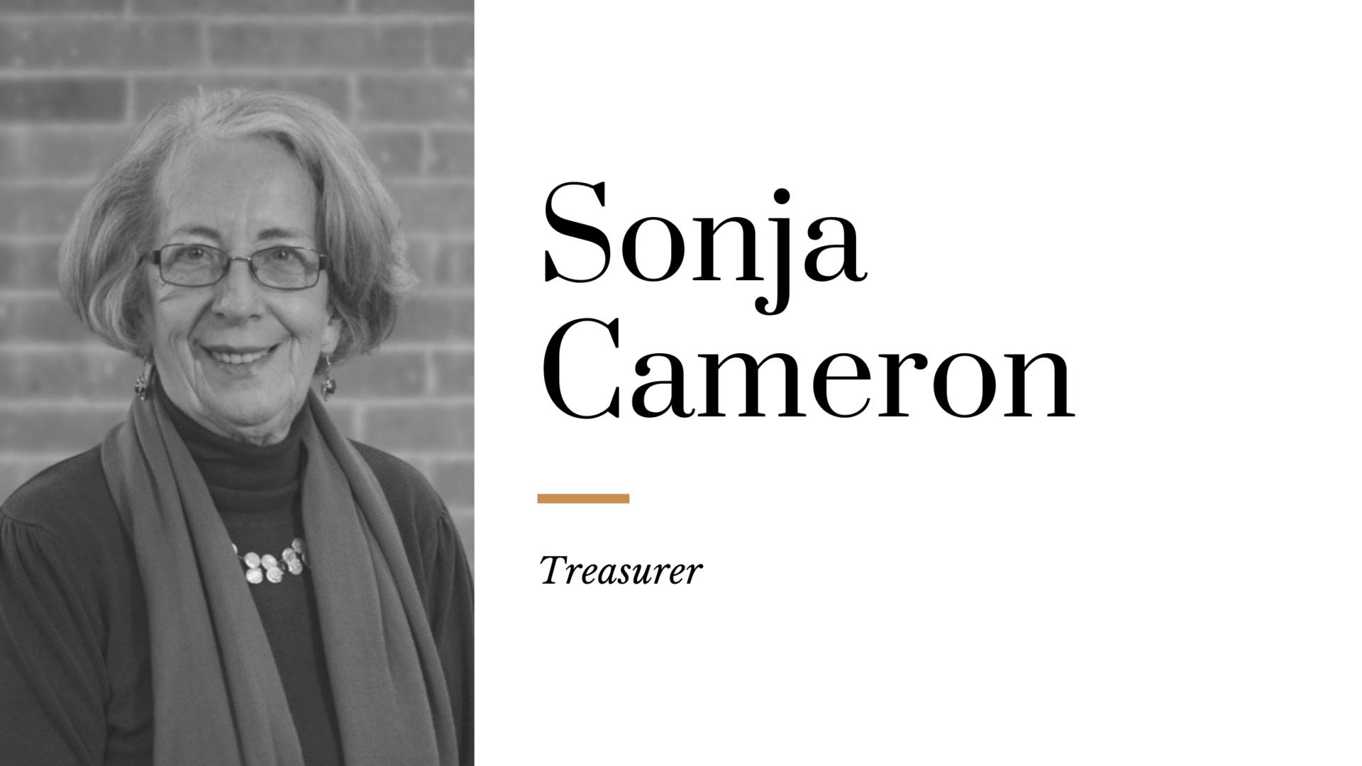 Sonja Cameron - Treasurer