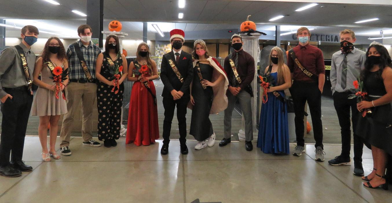 TKHS Homecoming Court was announced in unique COVID fashion this year.