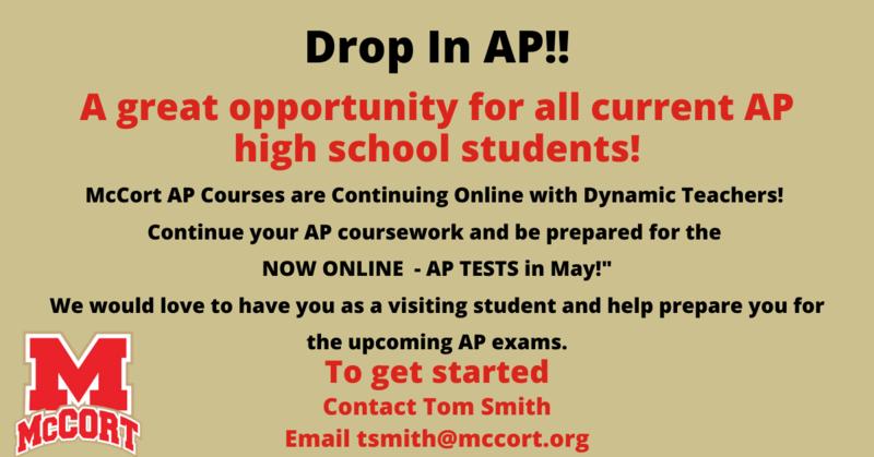 McCort Offers Online AP Classes Thumbnail Image