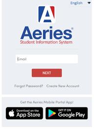 Aeries web screen image