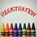 registration and crayons