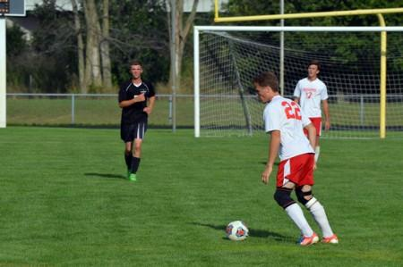 Varsity Boys' Soccer vs. Lutheran Westland.