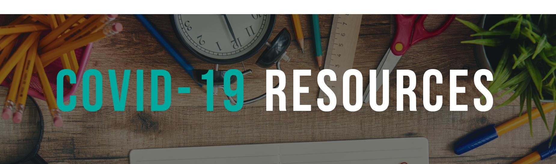 Covid-19 School Resource Banner