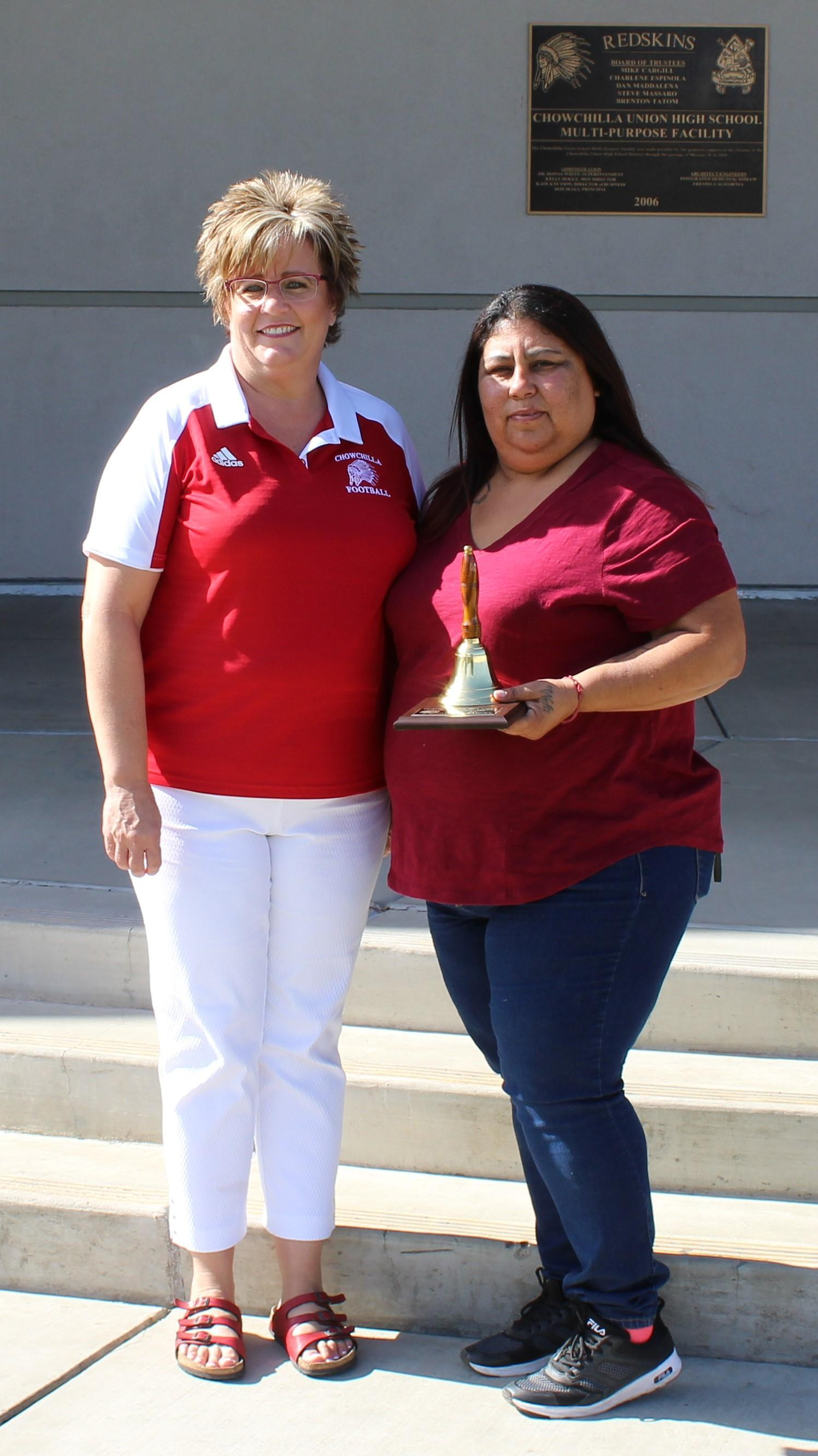 ten year award and Mrs. Castillo