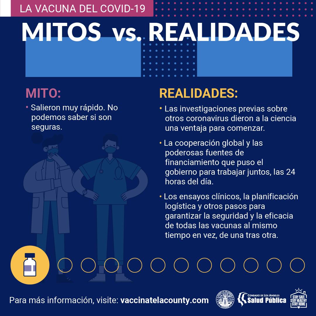 COVID-19 Vaccine Myth vs. Fact Sheet 1 (SPANISH)