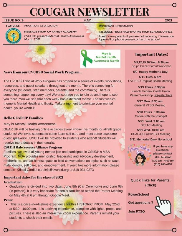 May Newsletter/Boletin informative de mayo Featured Photo