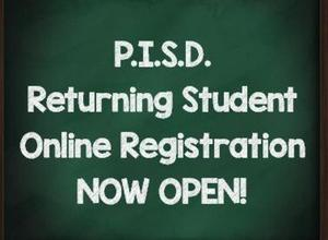 PISD Registration Now Open