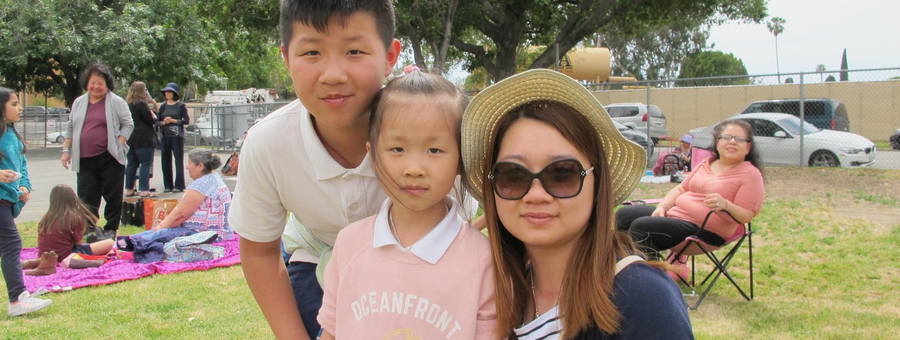 Marguerita family at school event