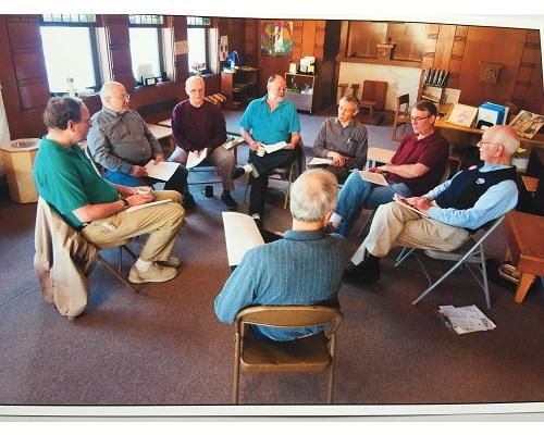 Men's Spirituality Group. All men are invited to participate in the Men's Spirituality meeting which takes place once a month on the third Saturday, from roughly 8:00 to 9:00 AM. Featured Photo