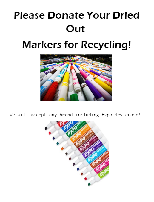 Donate used markers