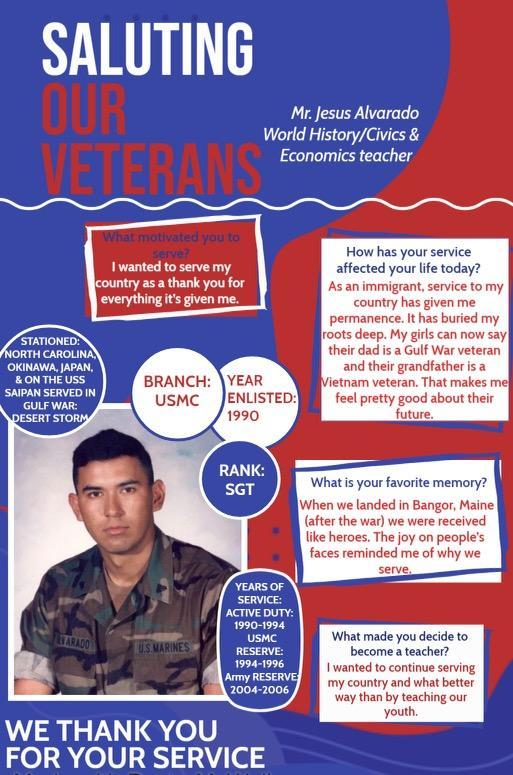Teacher: Jesus Alvarado -Veterans Page