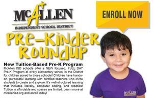 McAllen ISD Pre-K roundup Flyer