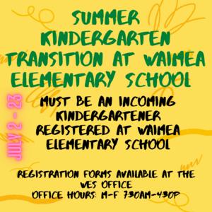 Summer transition flyer