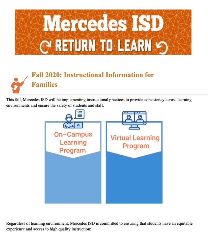 UPDATED: Return To Learn Reopening Plan for Virtual ONLY 2020-2021 School Year Featured Photo