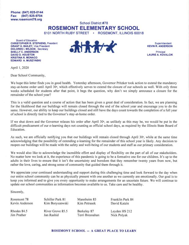 Community Letter