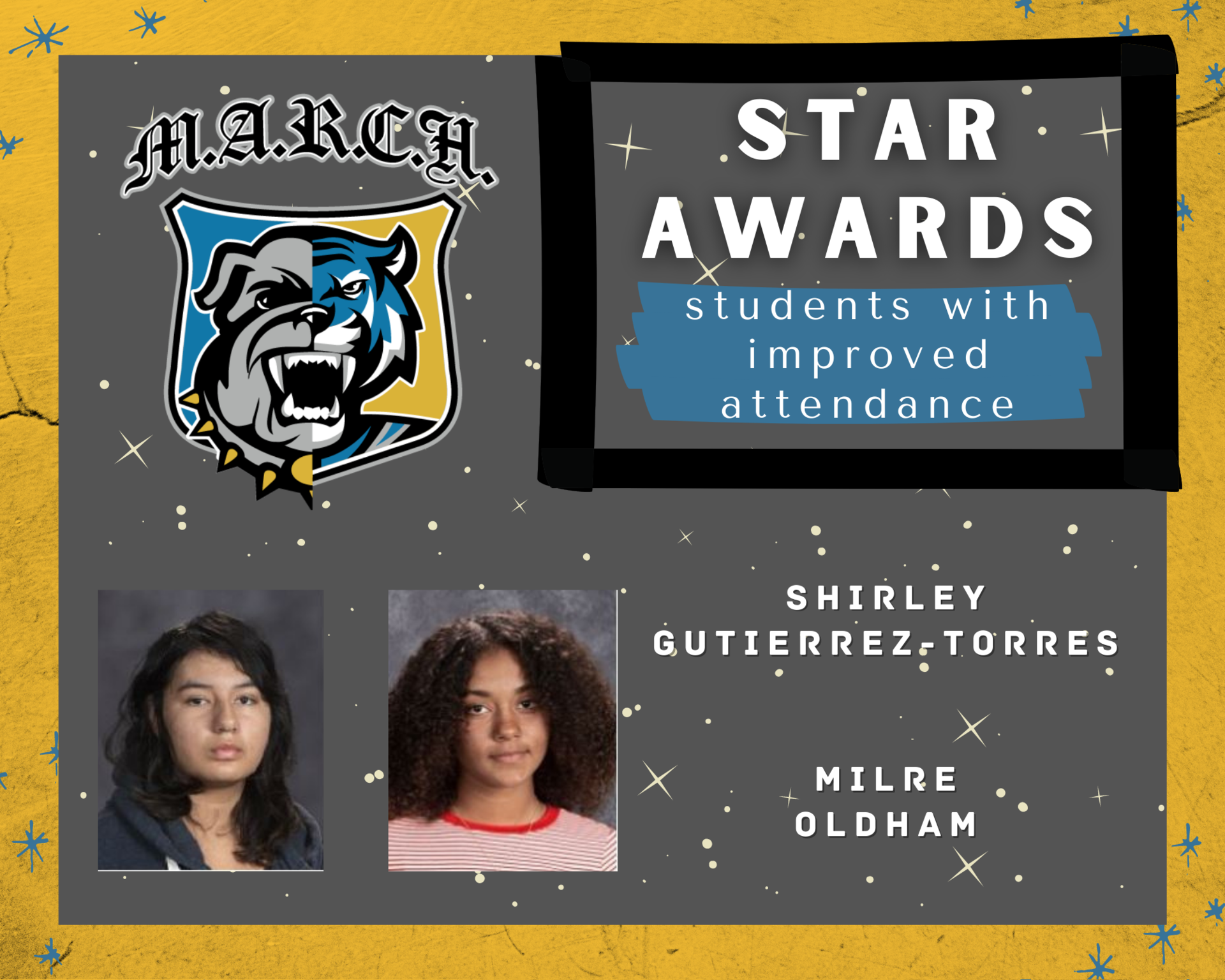 Team MARCH: STAR Awards-Week 7