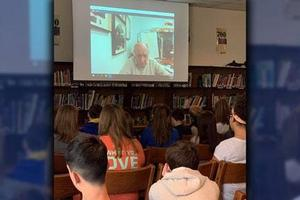 FMS Skypes with Holocaust survivor